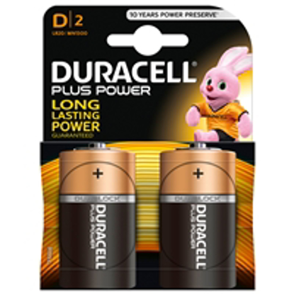 Picture of Duracell Plus Power Alkaline Pack of 2 D Batteries