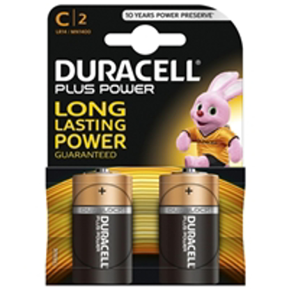 Picture of Duracell Plus Power Alkaline Pack of 2 C Batteries