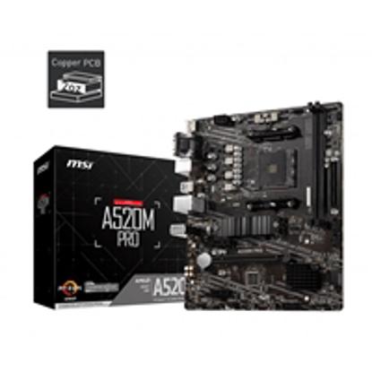 Picture of MSI A520M PRO AMD Socket AM4 Micro ATX VGA/HDMI/DIsplayPort USB 3.2 Gen1 M.2 Motherboard