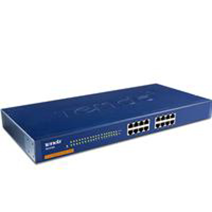 "Picture of Tenda TEG1016G 16 Port 10/100/1000M 19"" Rackmountable Gigabit Switch"