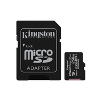 Picture of Kingston Canvas Select Plus 256GB Micro SD UHS-I Flash Card