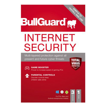 Picture of Bullguard Internet Security 2021 Retail 10 Pack - 10 x 3 User Licences - 1 Year - Pack, PC, Mac & Android