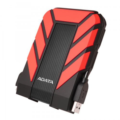 """Picture of ADATA 1TB HD710 Pro Rugged External Hard Drive, 2.5"""", USB 3.1, IP68 Water/Dust Proof, Shock Proof, Red"""