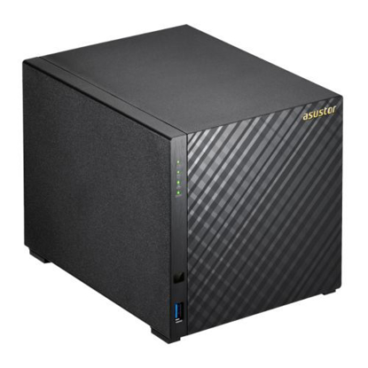 Picture of ASUSTOR AS1004T V2 4-Bay NAS Enclosure (No Drives), Dual Core 1.6GHz CPU, 512MB, USB3, GB LAN, Diamond-Plate Finish