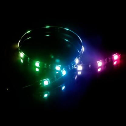 Picture of Akasa Vegas MB RGB LED Light Strip, 50cm, 12V, Molex 4 Pin, Magnetic Backing, Aura Sync Compatible
