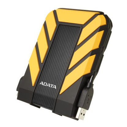 """Picture of ADATA 1TB HD710 Pro Rugged External Hard Drive, 2.5"""", USB 3.1, IP68 Water/Dust Proof, Shock Proof, Yellow"""