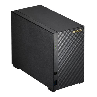 Picture of ASUSTOR AS1002T V2 2-Bay NAS Enclosure (No Drives), Dual Core 1.6GHz CPU, 512MB, USB3, GB LAN, Diamond-Plate Finish