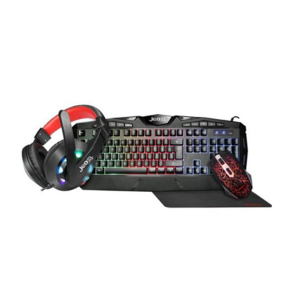 Picture of Jedel CP-04 Knights Templar Elite 4-in-1 Gaming Kit - Backlit RGB Keyboard, 1000 DPI RGB Mouse, 40mm Driver RGB Headset, XL Mouse Mat