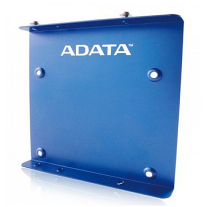 """Picture of Adata SSD Mounting Kit, Frame to Fit 2.5"""" SSD or HDD into a 3.5"""" Drive Bay, Blue Metal"""