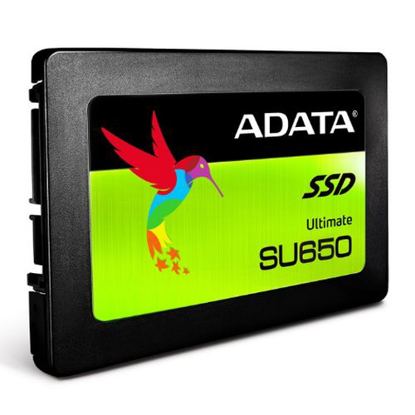 "Picture of ADATA 120GB Ultimate SU650 SSD, 2.5"", SATA3, 7mm, 3D NAND, R/W 520/320 MB/s, 75K IOPS"