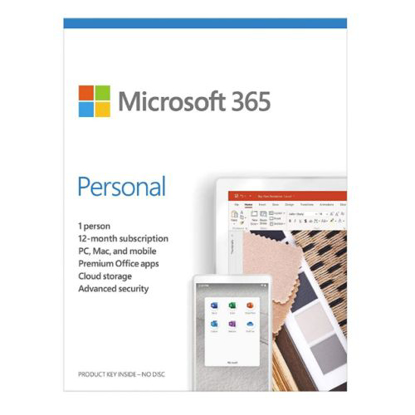 Picture of Microsoft Office 365 Personal, 1 User, 1 Device, 1 Year Subscription, 32 & 64 bit, Medialess