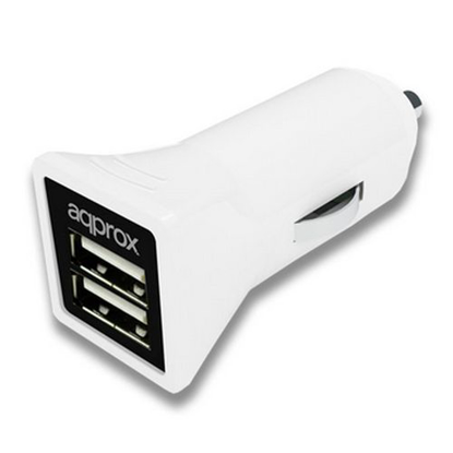 Picture of Approx (APPUSBCAR31W) 2 Port USB Car Adapter, 3.1A, White
