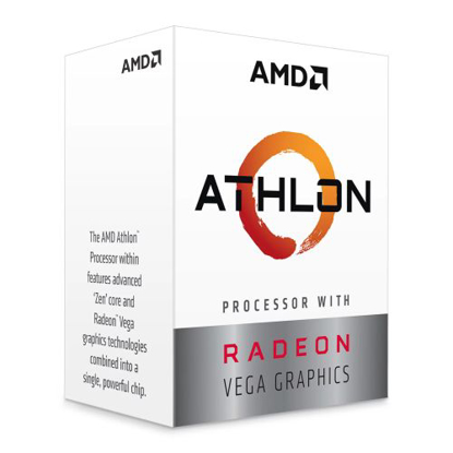 Picture of AMD Athlon 3000G CPU, AM4, 3.5GHZ, Dual Core, 35W, 4MB Cache, 14nm, 3rd Gen, VEGA 3 Graphics, Picasso