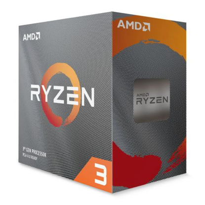 Picture of AMD Ryzen 3 3100 CPU with Wraith Stealth Cooler, AM4, 3.6GHz (3.9 Turbo), Quad Core, 65W, 18MB Cache, 7nm, 3rd Gen, No Graphics, Matisse