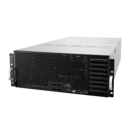 Picture of Asus (ESC8000 G4) 4U High-Density GPU Barebone Server, Intel C621, Dual Socket 3647, Supports 8 GPUs, Dual GB LAN, 8 Bay Hot-Swap, 2+1 1600W Platinum PSU