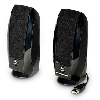 Picture of Logitech S150 2.0 Digital Speaker System, 5W RMS, Black, USB, Brown Box