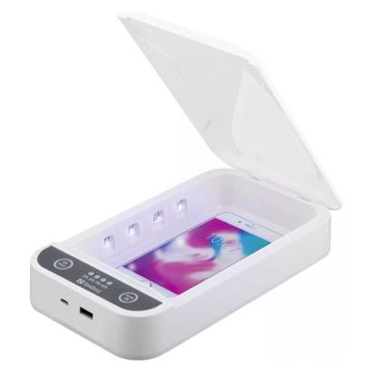 "Picture of Sandberg (470-30) 7"" USB UV Sterilizer Box, , 360° UV Disinfection, Kills up to 99% Bacteria/Viruses, Optional Aroma Function, 5 Year Warranty"