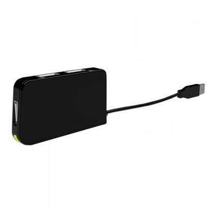 Picture of Approx (APPHT4BK) External 4-Port USB 2.0 Travel Hub, USB Powered, LED