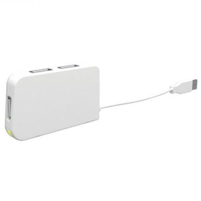 Picture of Approx (APPHT4W) External 4-Port USB 2.0 Travel Hub, LED, White