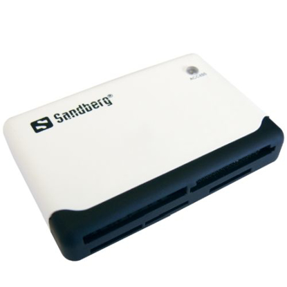 Picture of Sandberg (133-46) External Multi Card Reader, USB Powered, Black & White, 5 Year Warranty