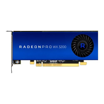 Picture of AMD Radeon Pro WX 3200 Professional Graphics Card, 4GB DDR5, 4 miniDP, 1.66TFLOPS, Low Profile