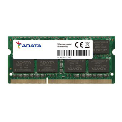 Picture of ADATA 8GB, DDR3L, 1600MHz (PC3-12800), CL11, SODIMM Memory *Low Voltage 1.35V*
