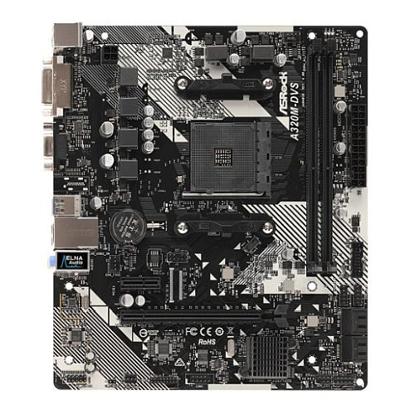 Picture of Asrock A320M-DVS R4.0, AMD A320, AM4, Micro ATX, 2 DDR4, VGA, DVI