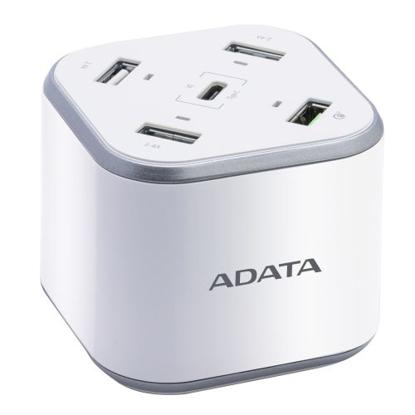 Picture of ADATA USB Charging Station - 3 x USB-A, 1 x USB-C, 1 x Qualcomm Quick Charge USB-A