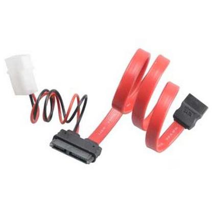Picture of Akasa SATA Cable For Slimline Opticals, SATA+Molex to Mini SATA Power & Data, 40cm