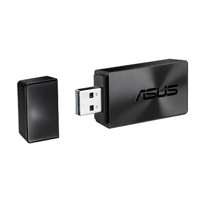 Picture of Asus (USB-AC54 B1) AC1300 (867+300) Wireless Dual Band USB Adapter, MU-MIMO, 256QAM, USB3